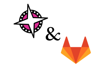 Gitlab and Compaas logos